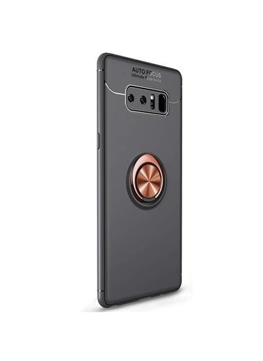 Microsonic Samsung Galaxy Note 8 Kılıf Kickstand Ring Holder Siyah
